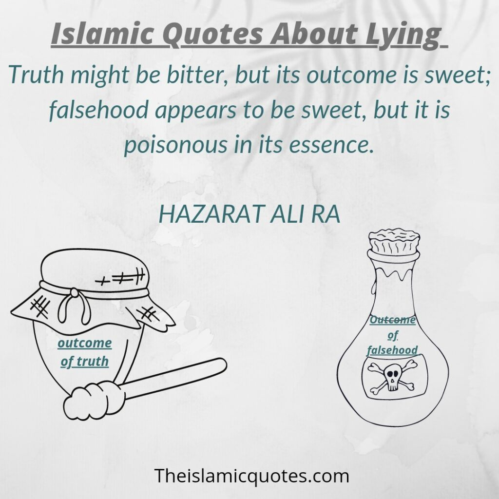 Ialamic Quotes about lying