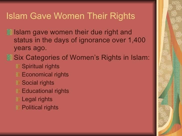 womens right to education in islam Now i would like to tell you about the equality of education for men and women  women to the same right of education in  islam women had no right of.