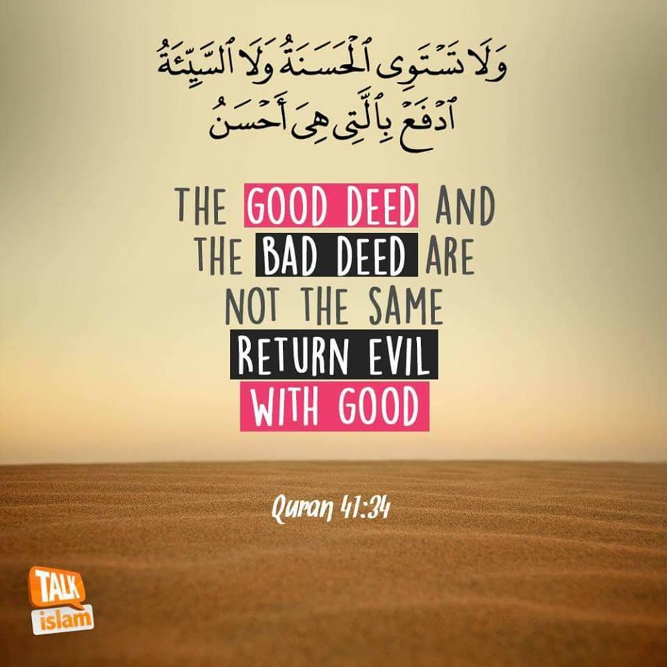 Return Bad Deeds with Good Ones