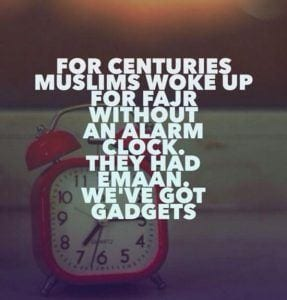 wake up for fajr
