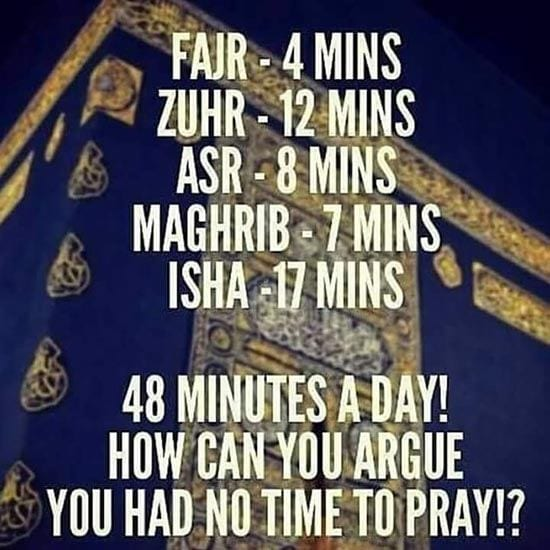 time of salah