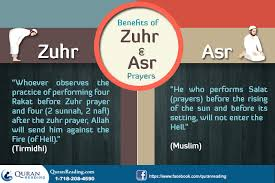 About Zuhr and Asr