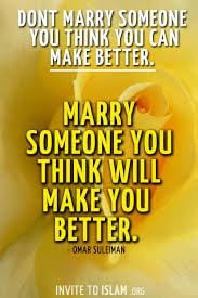 Marriage will make you Better