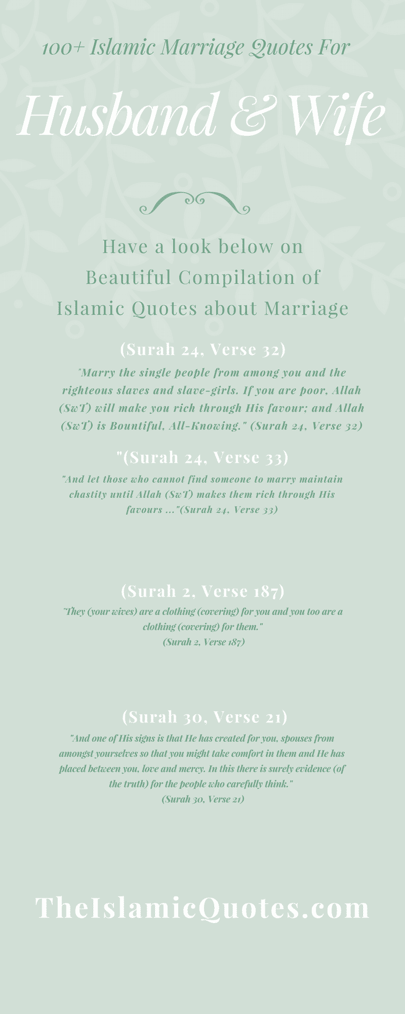 100 Islamic Marriage Quotes For Husband And Wife