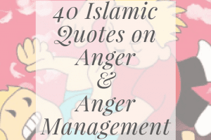 what islam says about anger