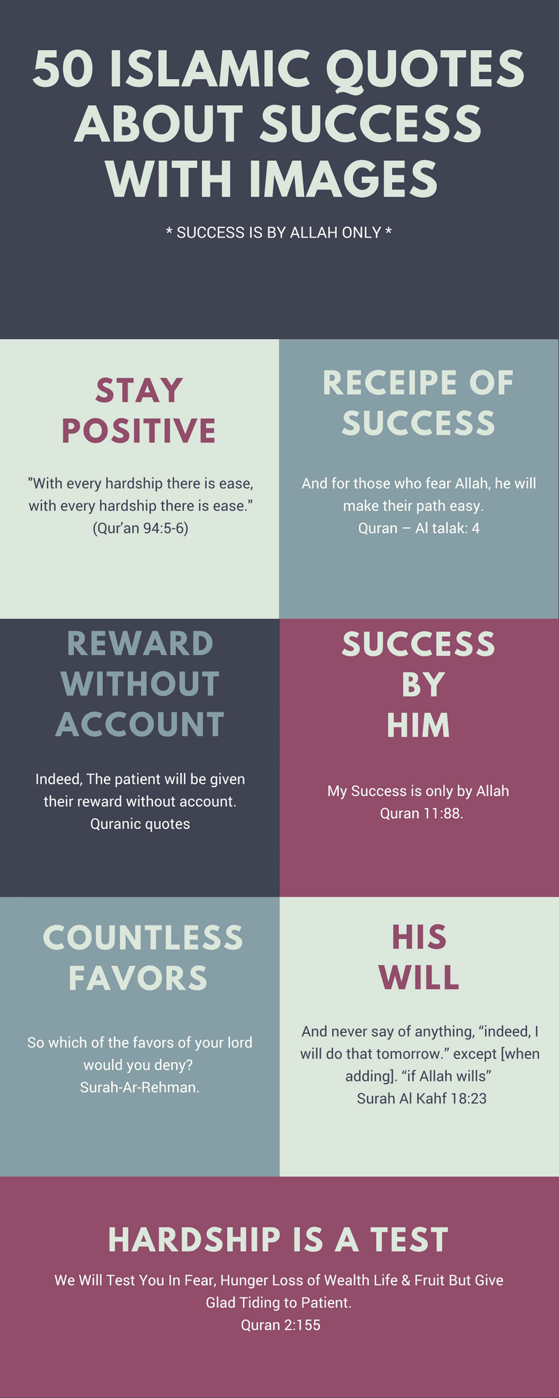 50 Islamic Quotes About Success With Images