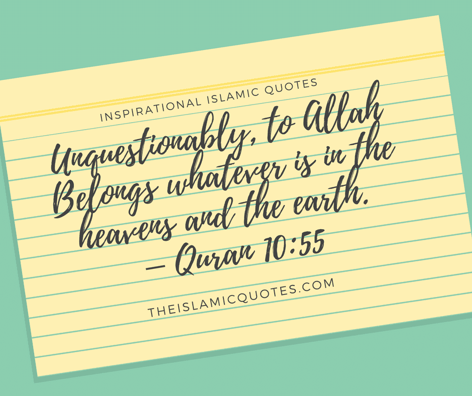 50 Inspirational Islamic Quran Quotes Verses In English