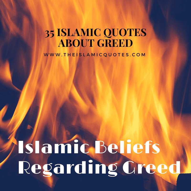 what islam says about greed