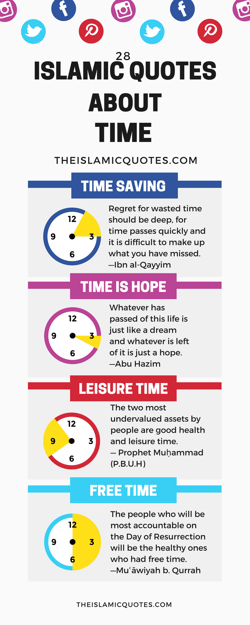28 Best Islamic Quotes About Time Importance Of Time In Islam