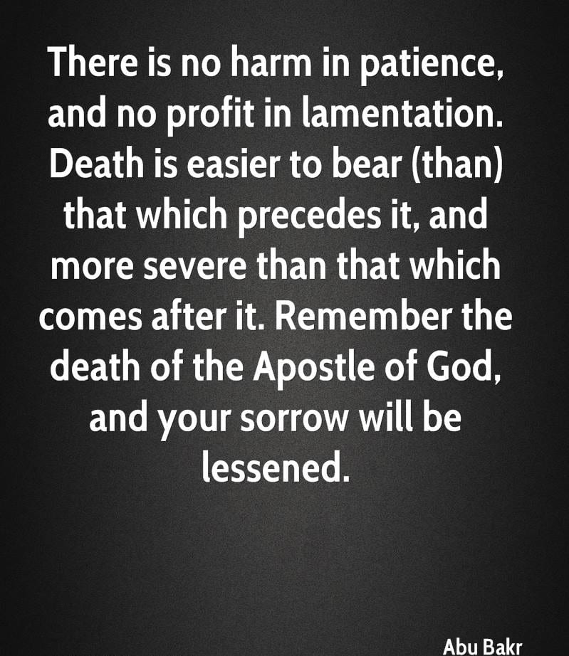 Hazrat Abu Bakar R.A Quotes (15)