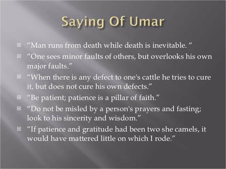 Umar Bin Khattab Quotes (22)