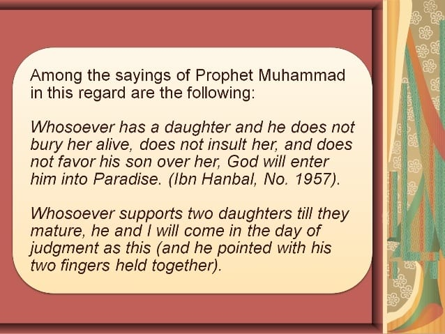 Islamic Quotes About Daughters The Blessings Of Daughters In Islam