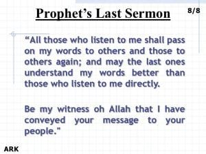 Last Sermon Of Muhammad (SAW) (12)
