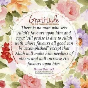 Islamic Quotes on thanking Allah (11)