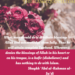 Islamic Quotes on thanking Allah (1)