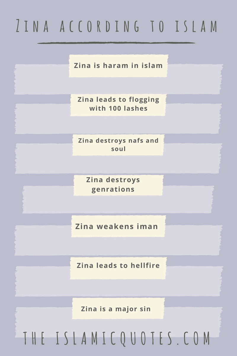 Zina in Islam - 30 Islamic Quotes about Zina and Punishment