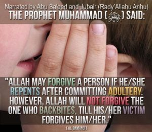 Hadiths And Islamic Quotes On Backbiting (20)