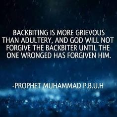 Hadiths And Islamic Quotes On Backbiting (11)