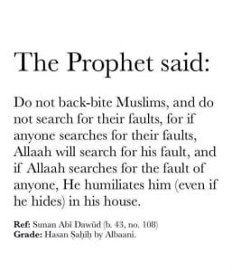 Hadiths And Islamic Quotes On Backbiting (2)