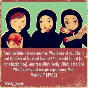 Hadiths And Islamic Quotes On Backbiting (23)