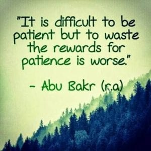 Sabr in Islam (11)