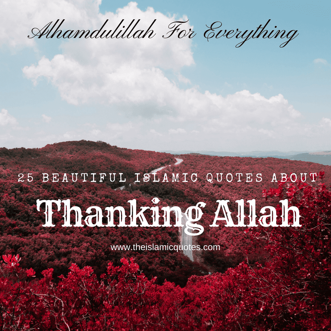 islamic quotes about thanking allah