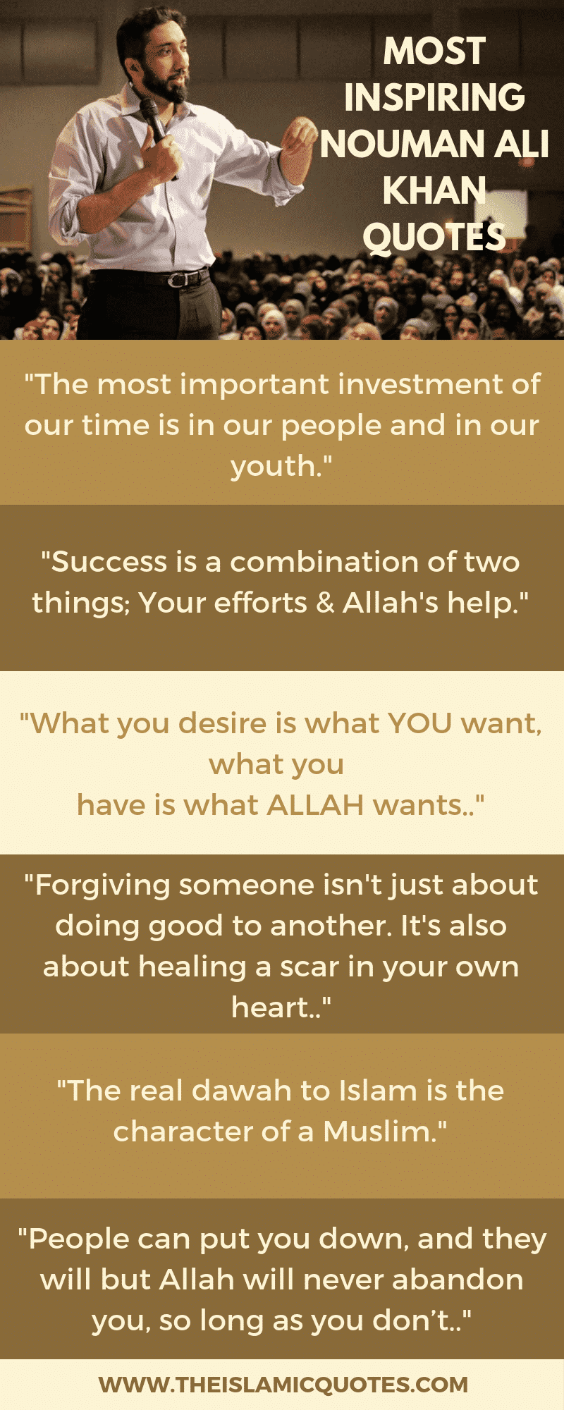 35 Inspirational Islamic Quotes Sayings By Nouman Ali Khan