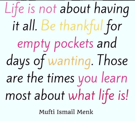 islamic quotes on being grateful