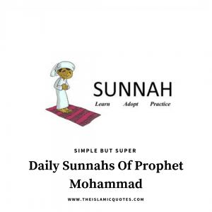 sunnah for daily life