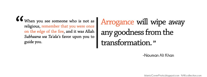 arrogance in islam