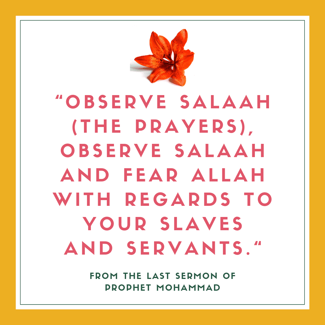 servants in islam quotes