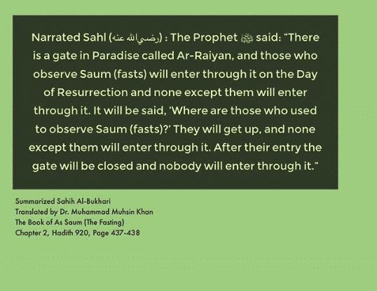 hadith on fasting