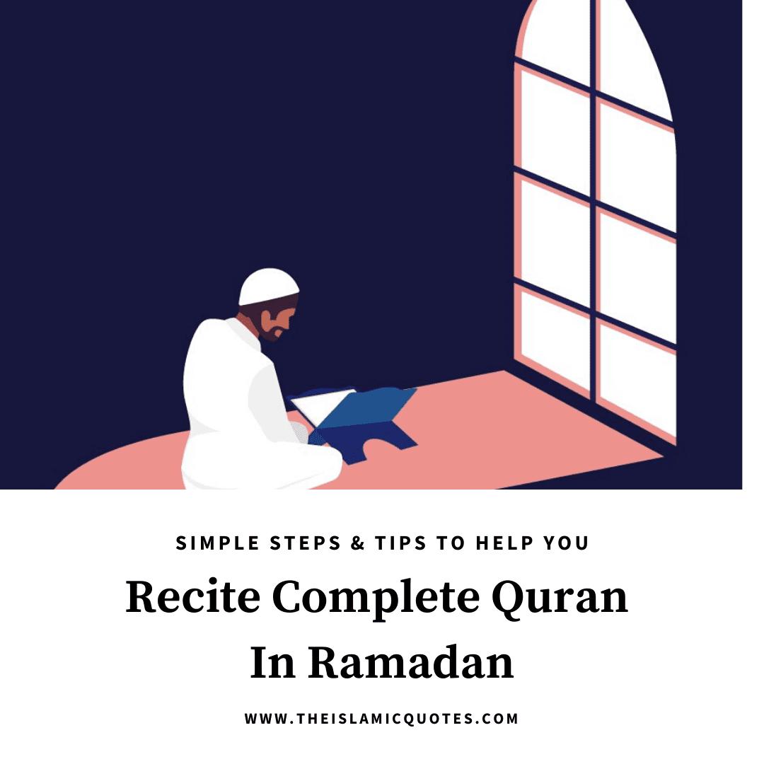 how to complete quran in ramadan