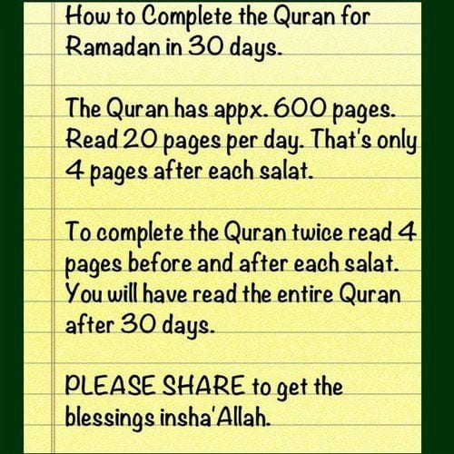how to complete quran