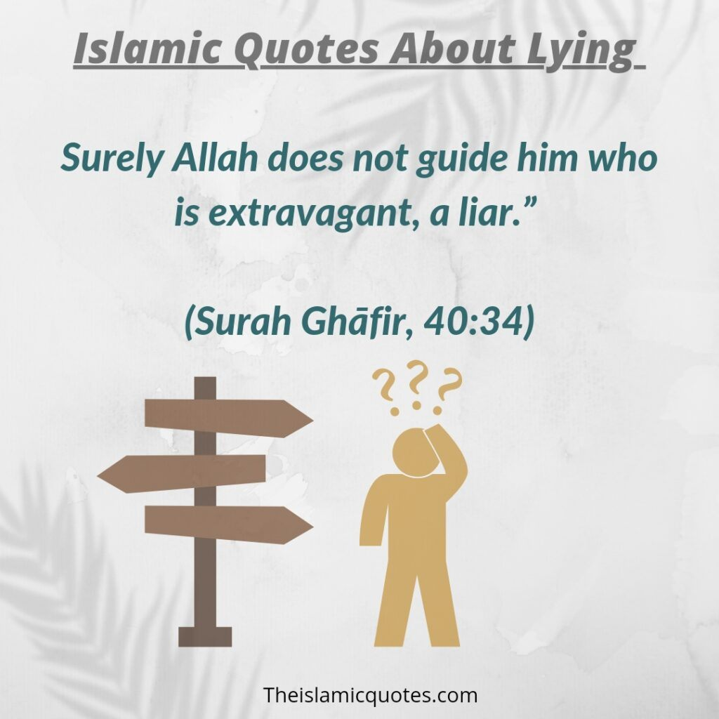 Islamic quotes lying