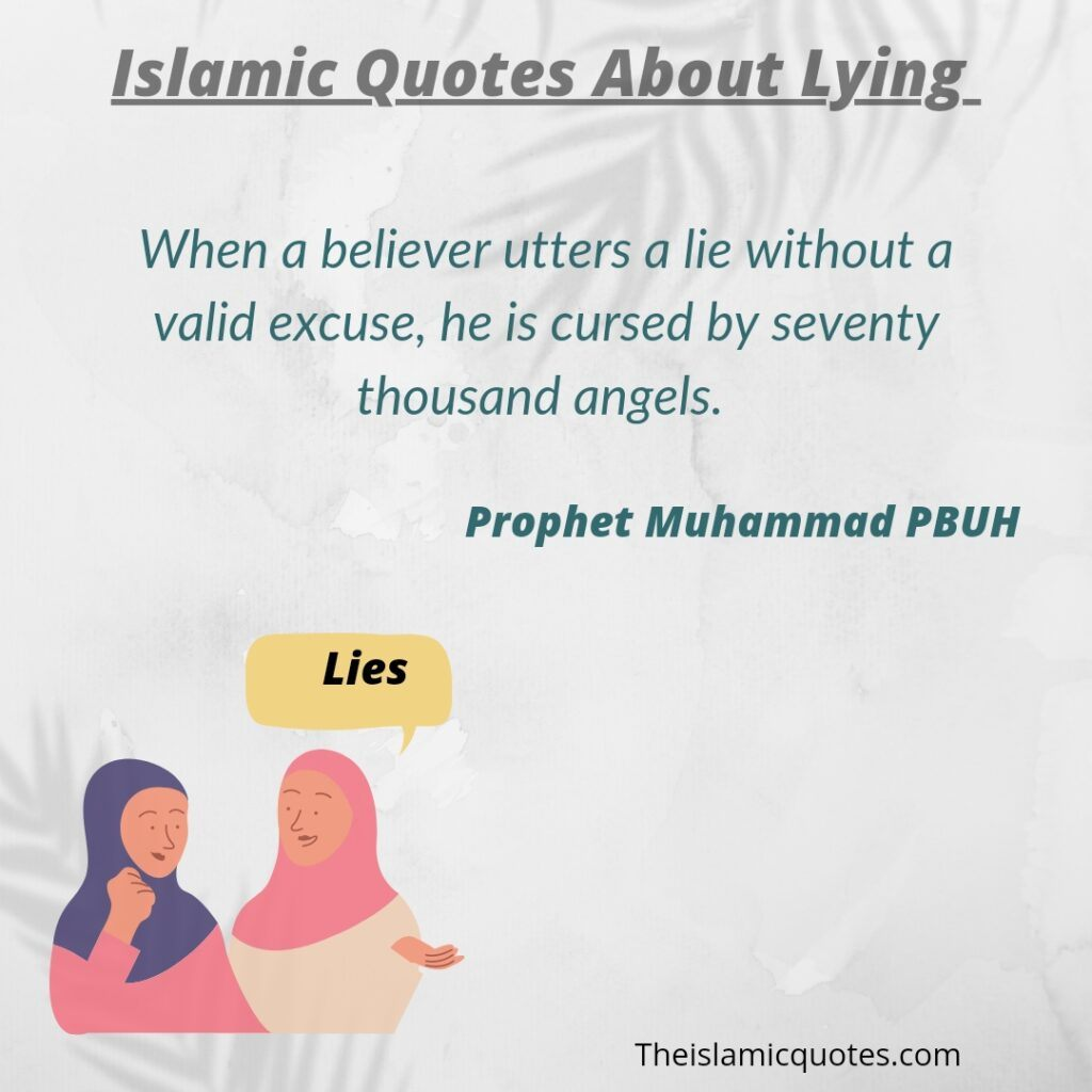 Islami Quotes about lying