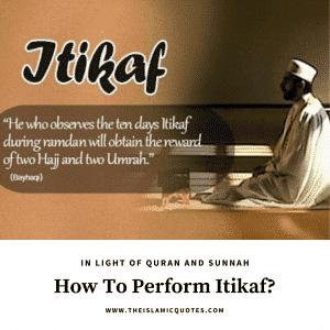 how to do itikaf