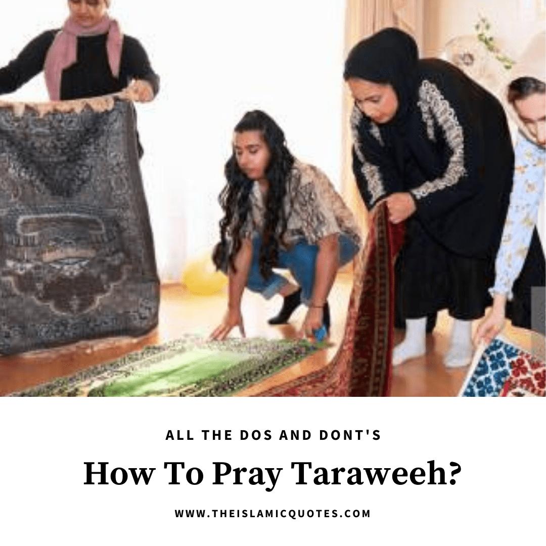 how to pray taraweeh