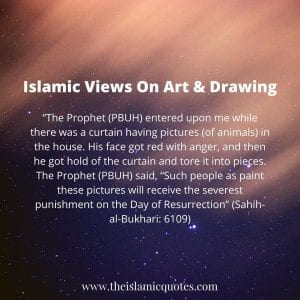 islamic quotes on art and drawing