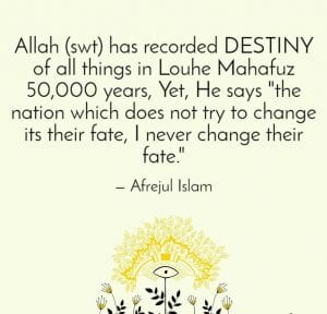 fate and destiny in islam