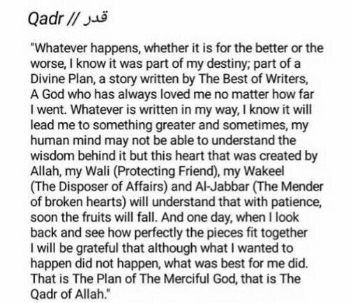 fate and destiny in islam