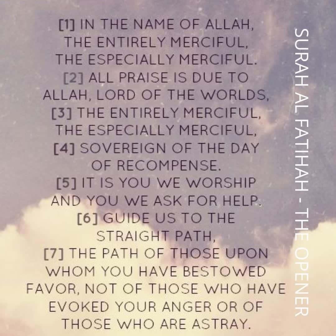 Lehren aus der Sure Fatiha (2)