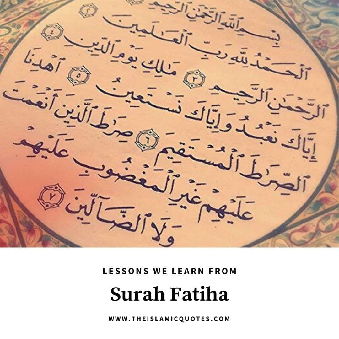 Was lehrt Sure Fatihah?