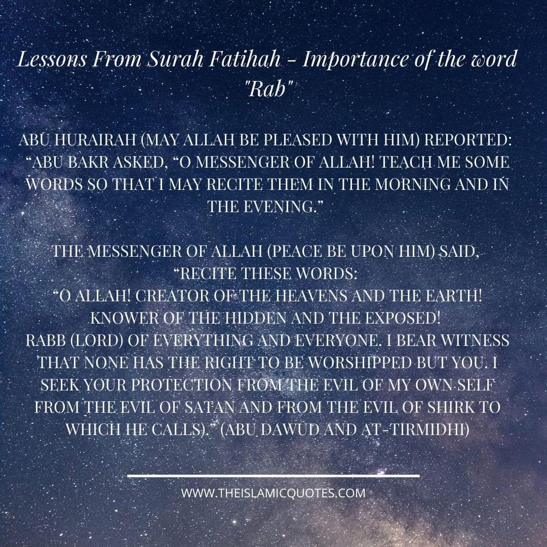 Lehren aus der Sure Fatiha