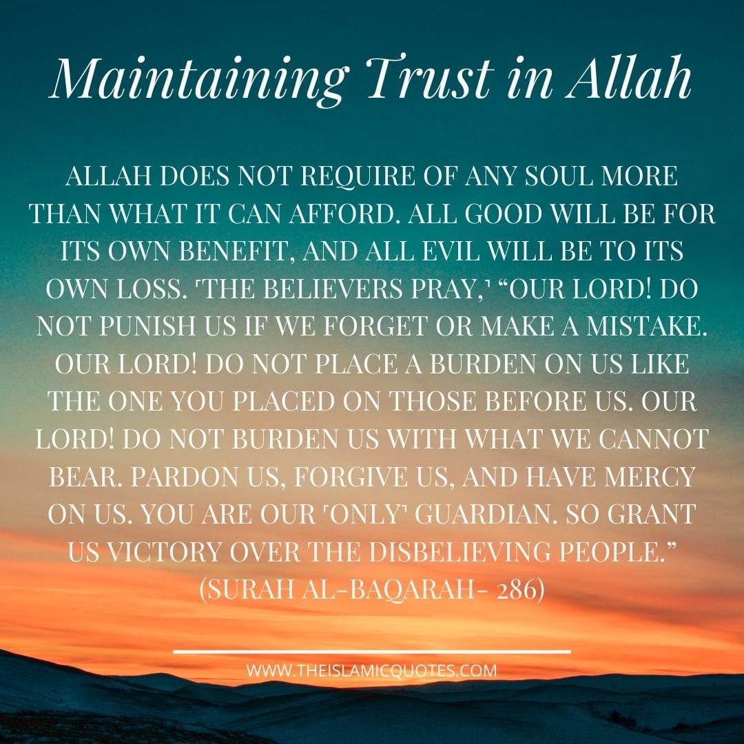 Duas for Increasing Trust and Reliance on Allah (SWT)