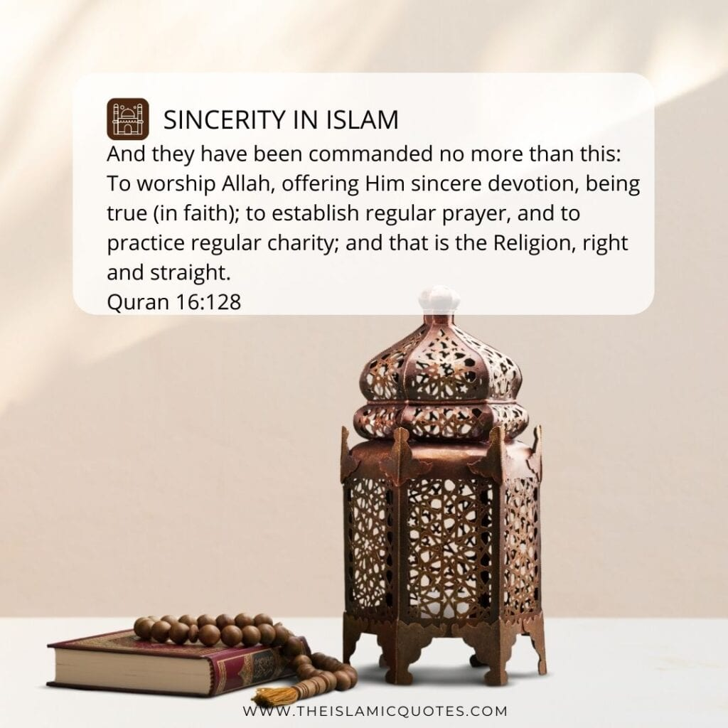 sincerity in islam quotes