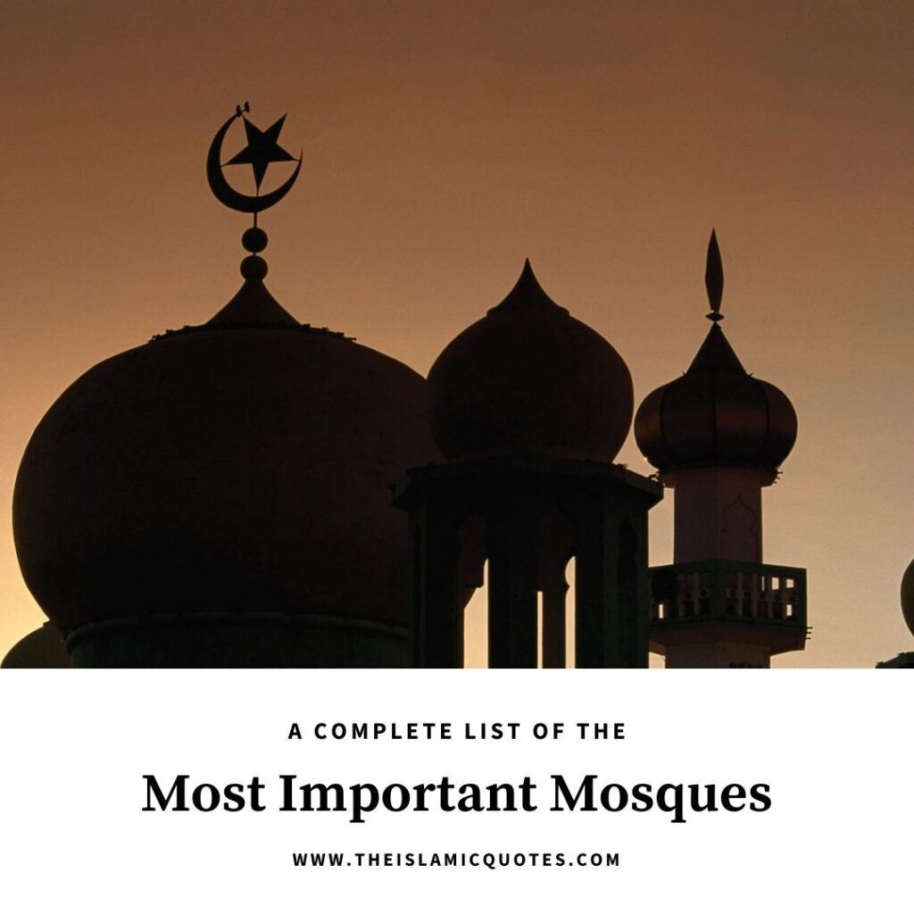 most important mosques for muslims