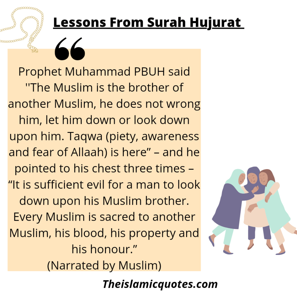 Lessons from Surah Hujarat