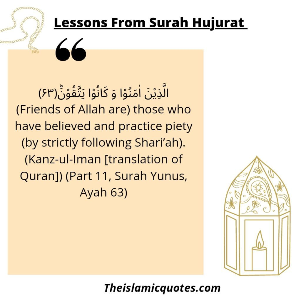 Lessons from Surah
