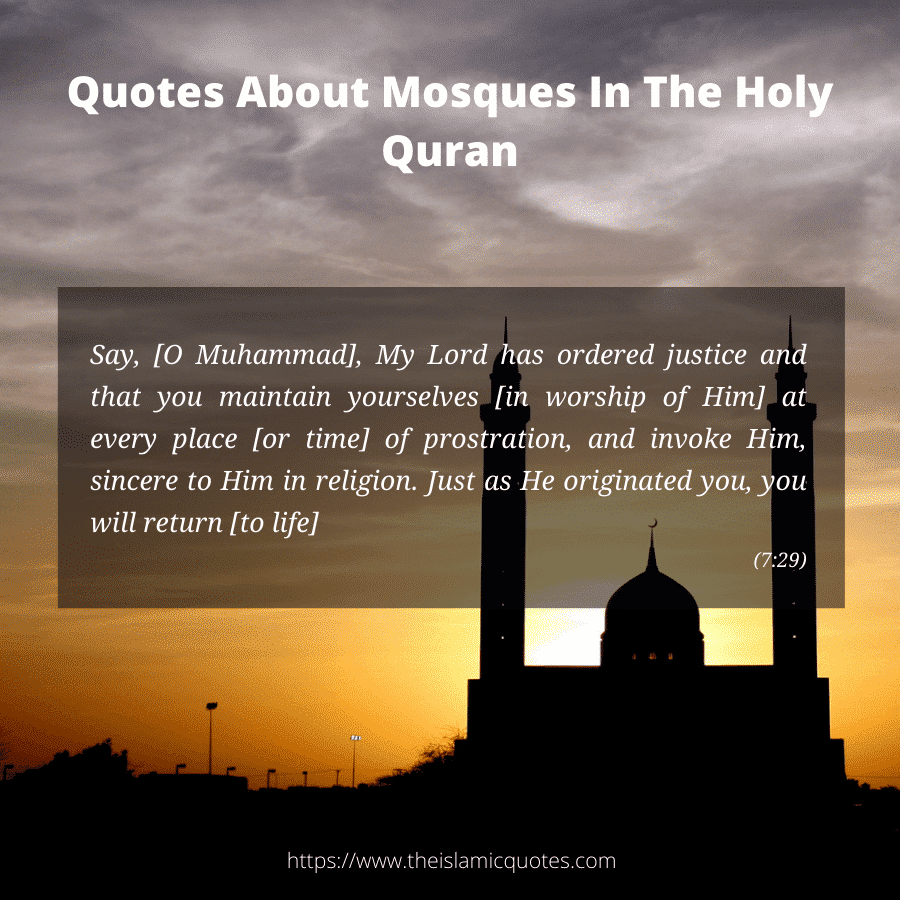 islamic quotes about mosques